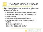 the agile unified process