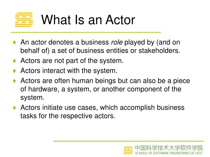What Is an Actor
