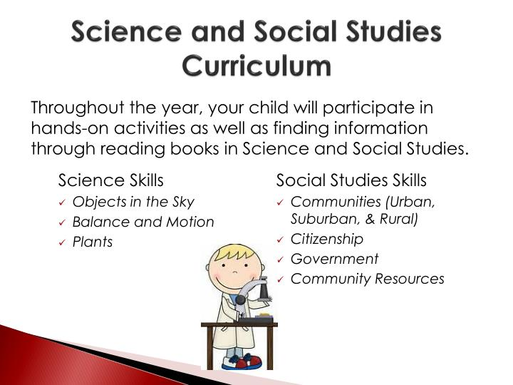 Science and Social Studies Curriculum