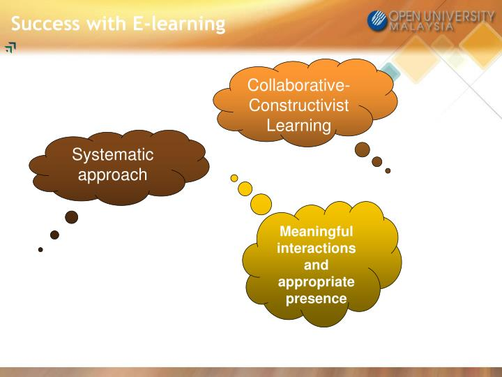 Success with E-learning