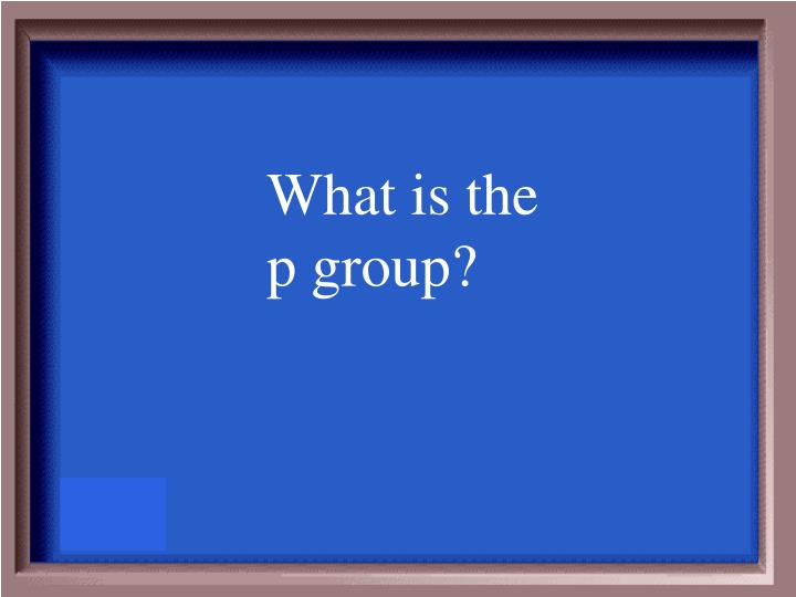 What is the p group?