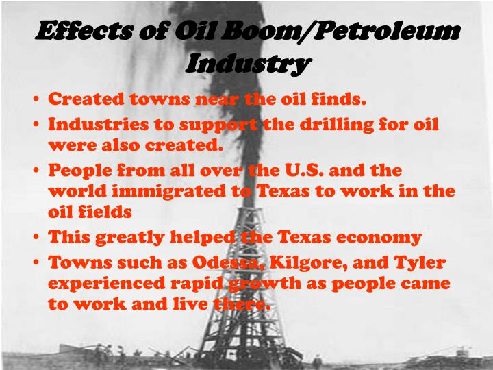 Effects of Oil Boom/Petroleum  Industry