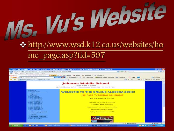 Ms. Vu's Website