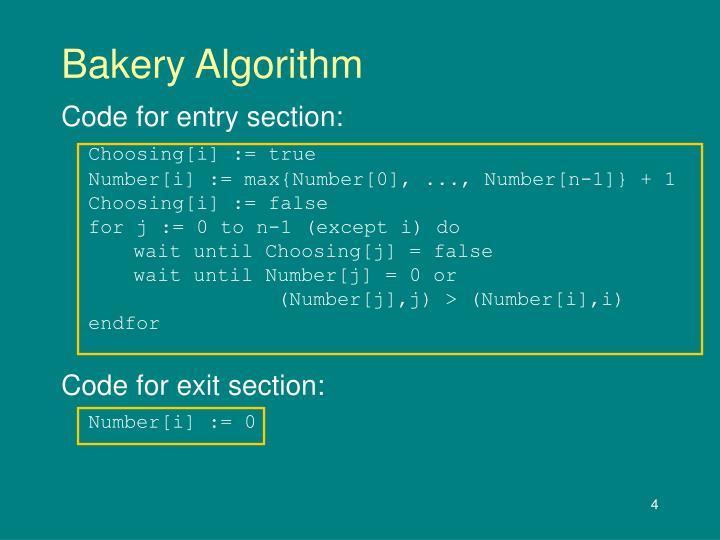 Bakery Algorithm