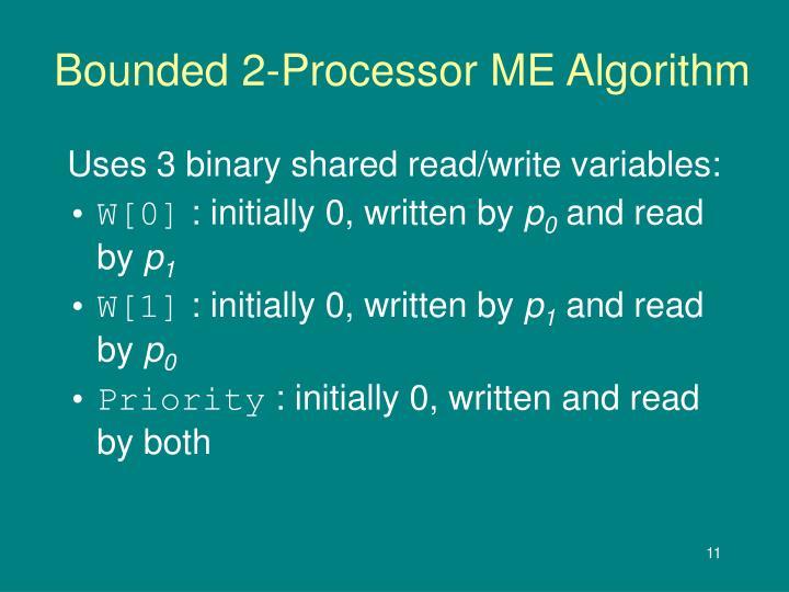 Bounded 2-Processor ME Algorithm