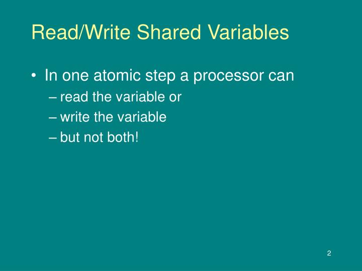 Read/Write Shared Variables