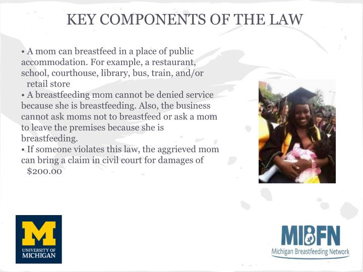 KEY COMPONENTS OF THE LAW