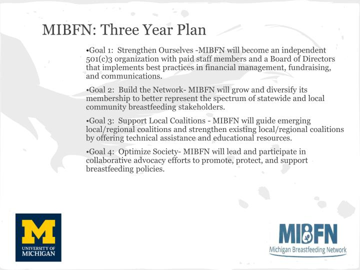 MIBFN: Three Year Plan
