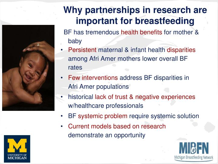Why partnerships in research are important for breastfeeding