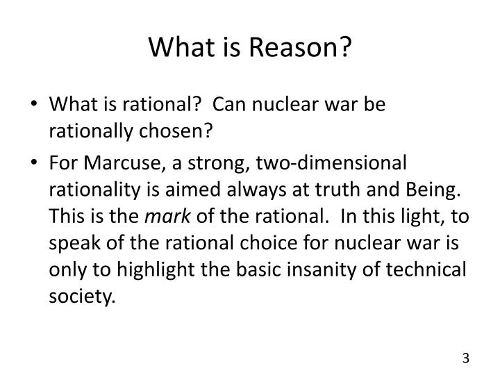 What is reason