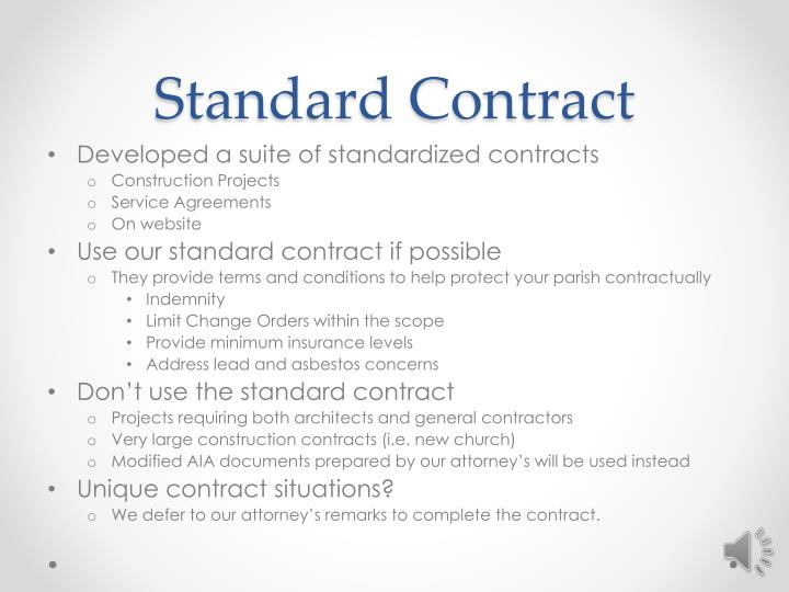 Standard Contract
