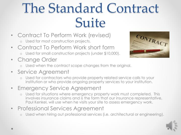 The Standard Contract Suite