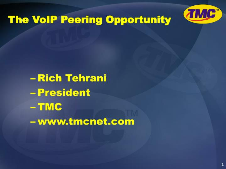 The voip peering opportunity