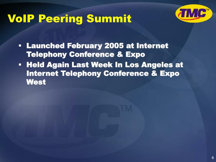 VoIP Peering Summit