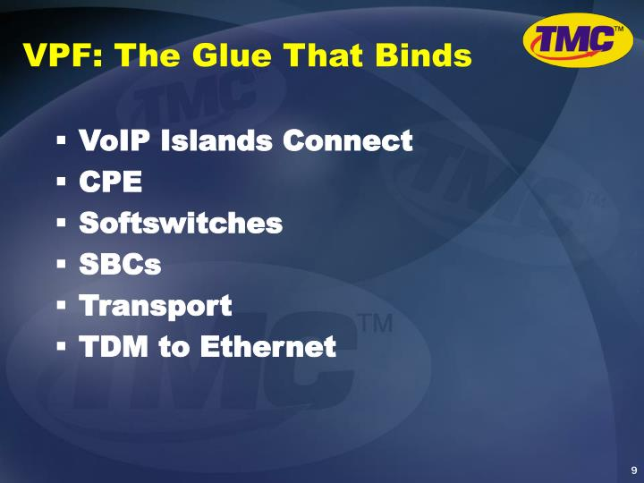 VPF: The Glue That Binds