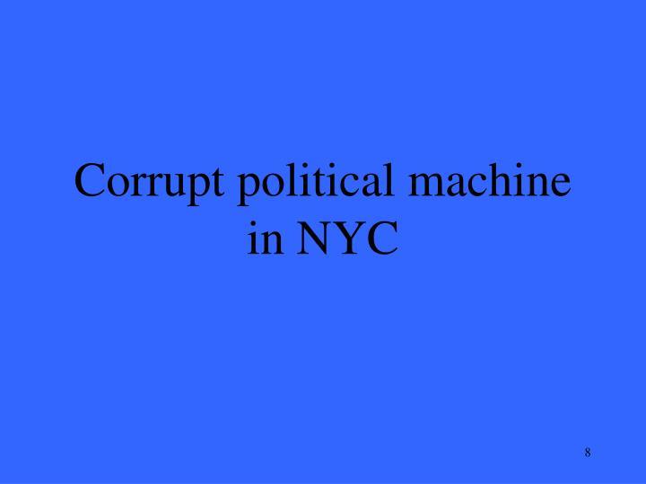 Corrupt political machine in NYC