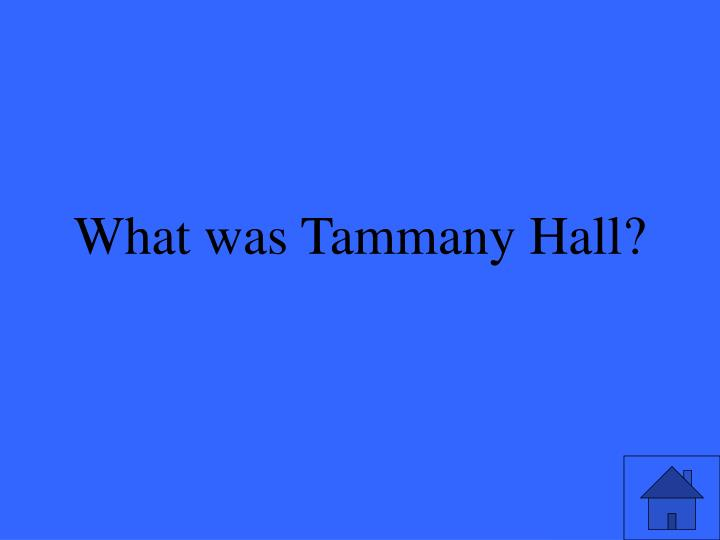 What was Tammany Hall?
