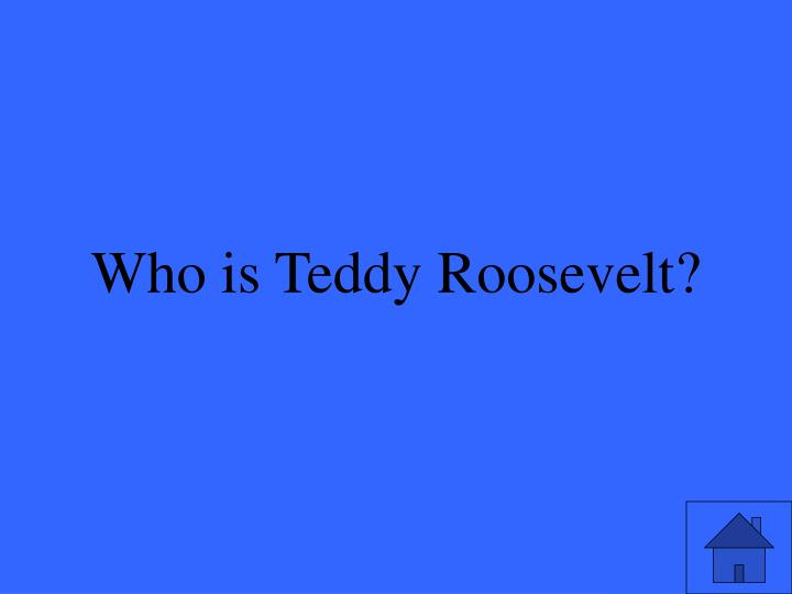 Who is Teddy Roosevelt?