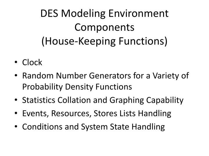 DES Modeling Environment