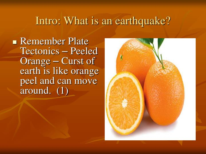Intro what is an earthquake