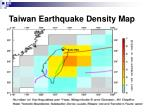 taiwan earthquake density map