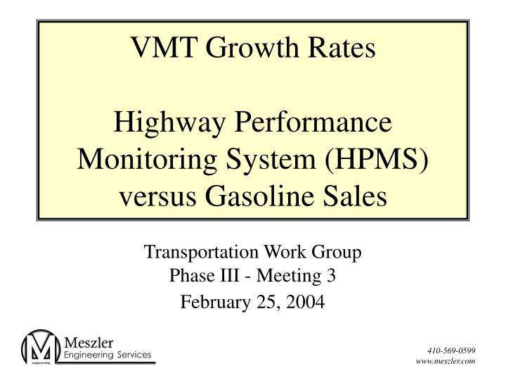 VMT Growth Rates