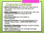 character continued2