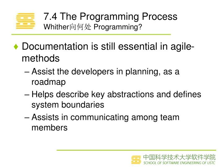 7.4 The Programming Process
