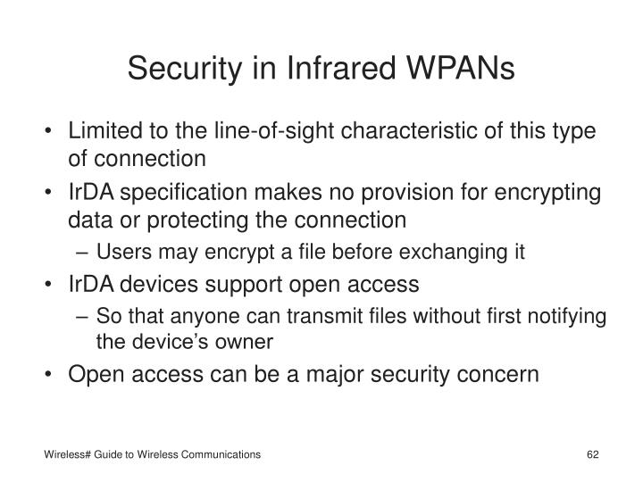 Security in Infrared WPANs
