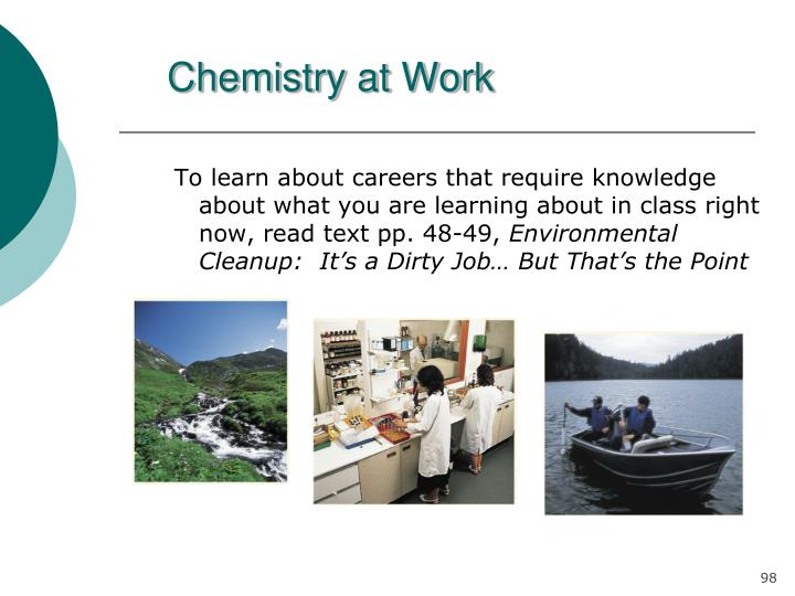 Chemistry at Work
