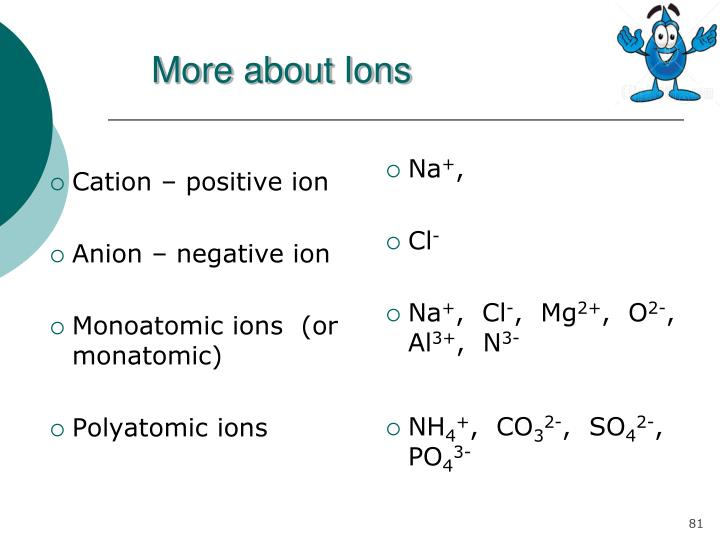More about Ions