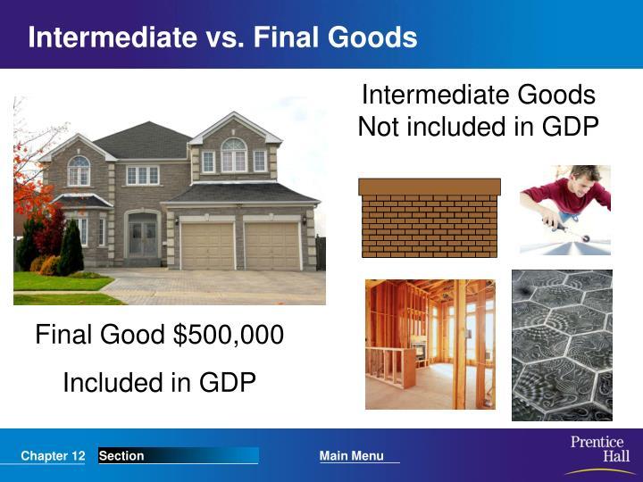 Intermediate vs. Final Goods