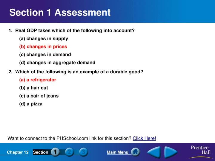 Section 1 Assessment