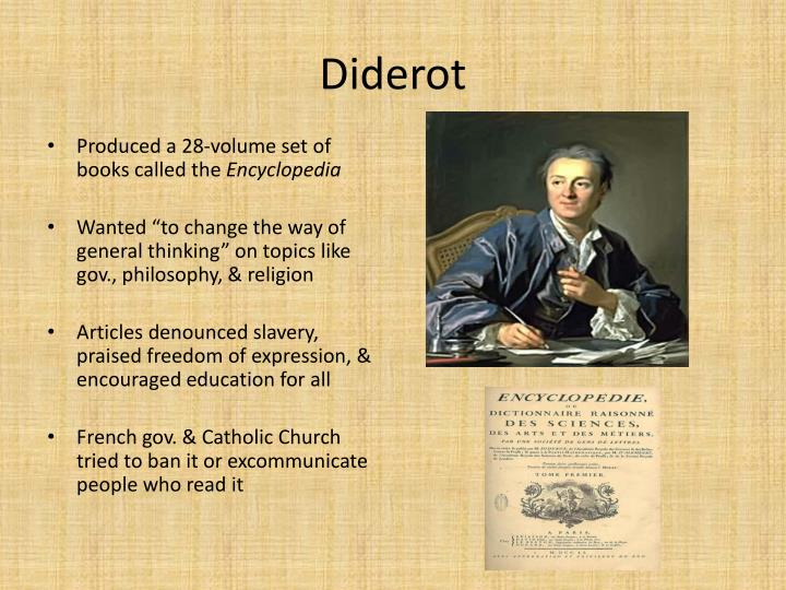 diderot report encyclopedia