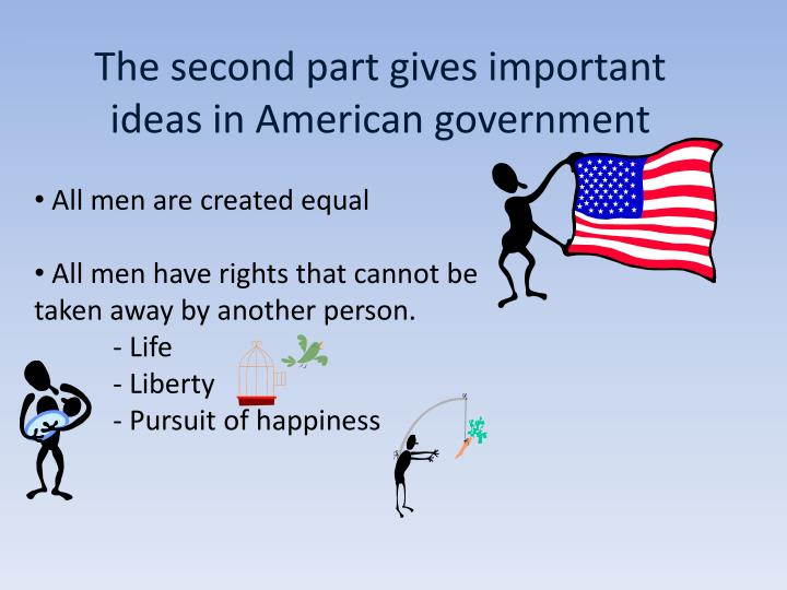 The second part gives important ideas in American