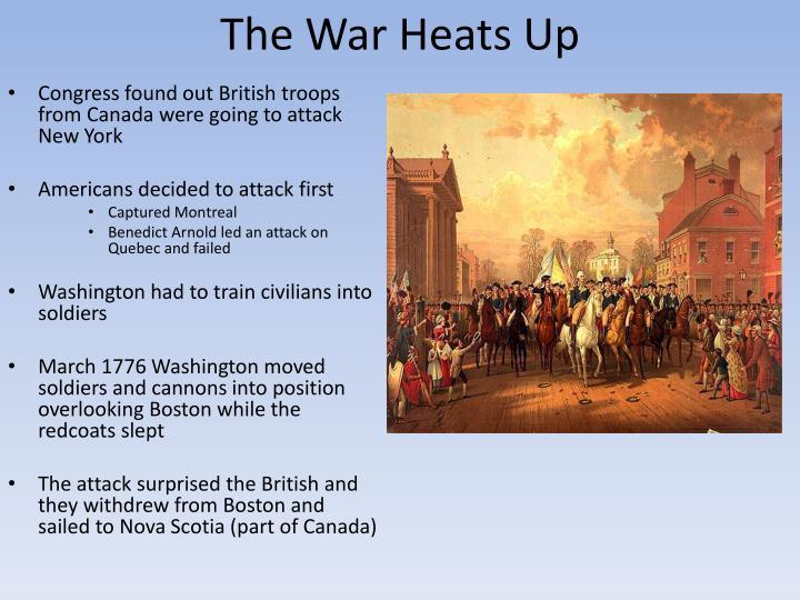 The War Heats Up