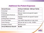additional out patient expenses