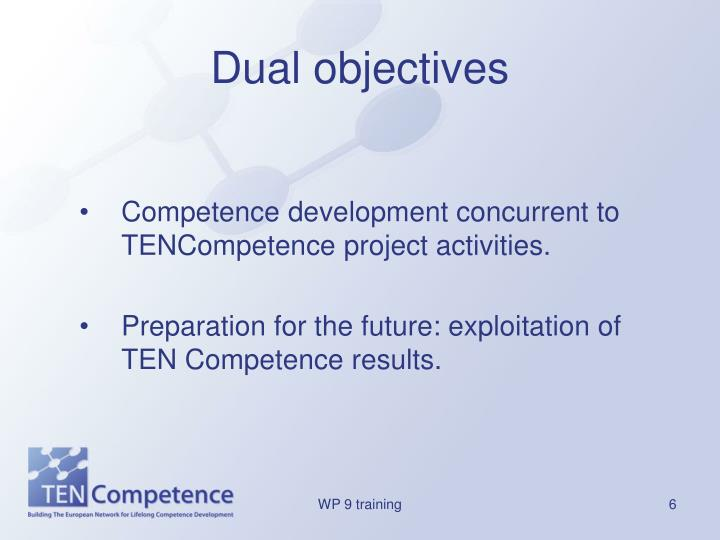 Dual objectives