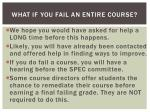 what if you fail an entire course