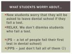 what students worry about
