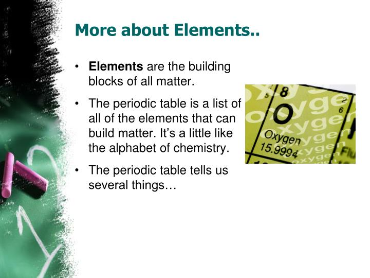 More about Elements..