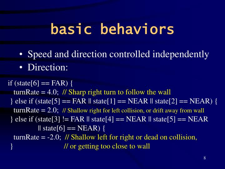 basic behaviors