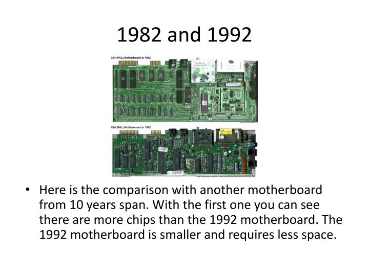 1982 and 1992