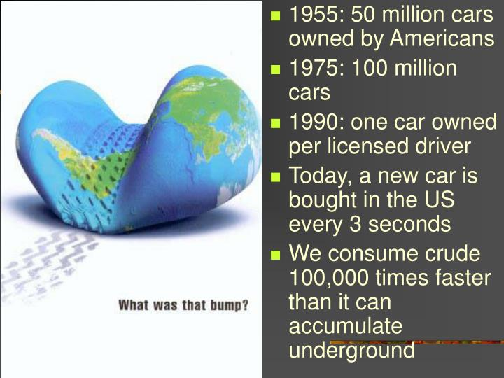 1955: 50 million cars owned by Americans