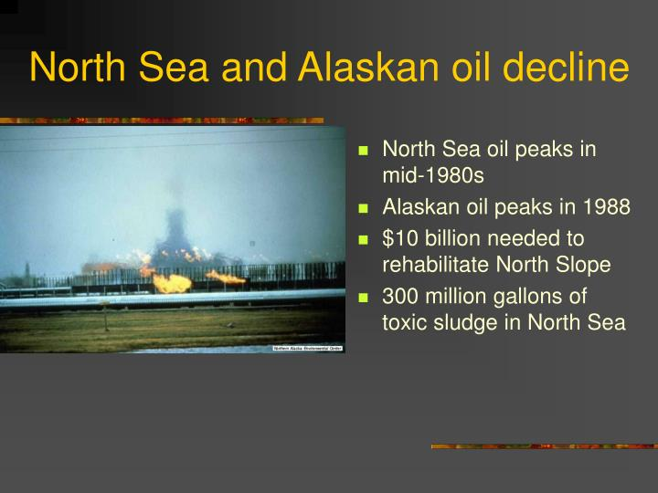 North Sea and Alaskan oil decline