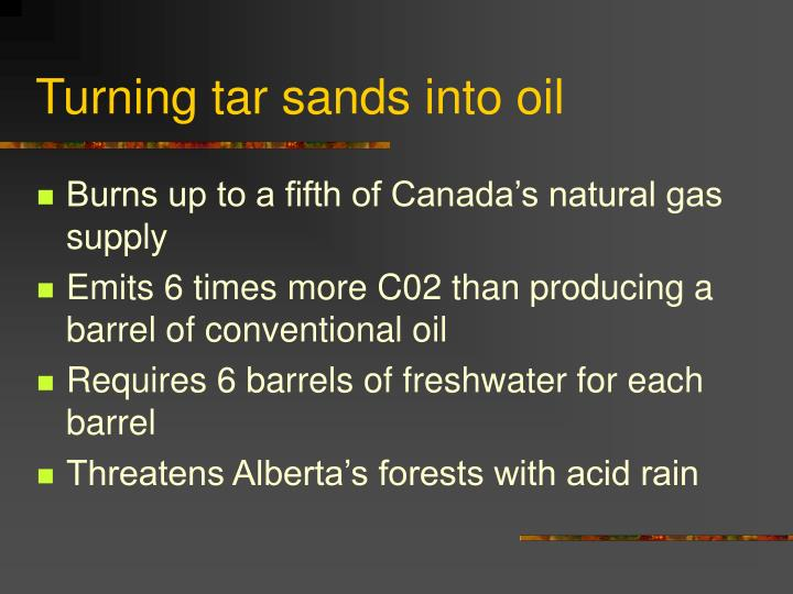 Turning tar sands into oil