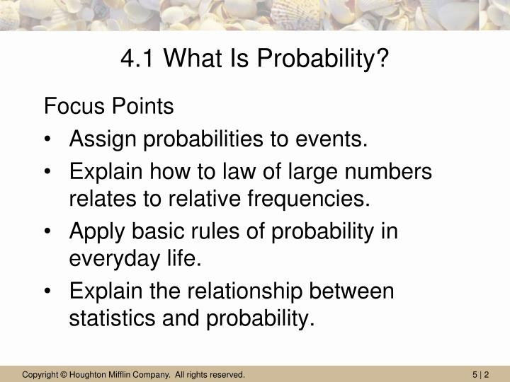4 1 what is probability