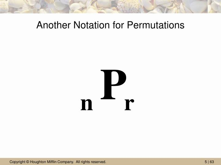 Another Notation for Permutations