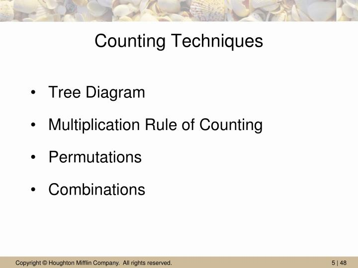 Counting Techniques