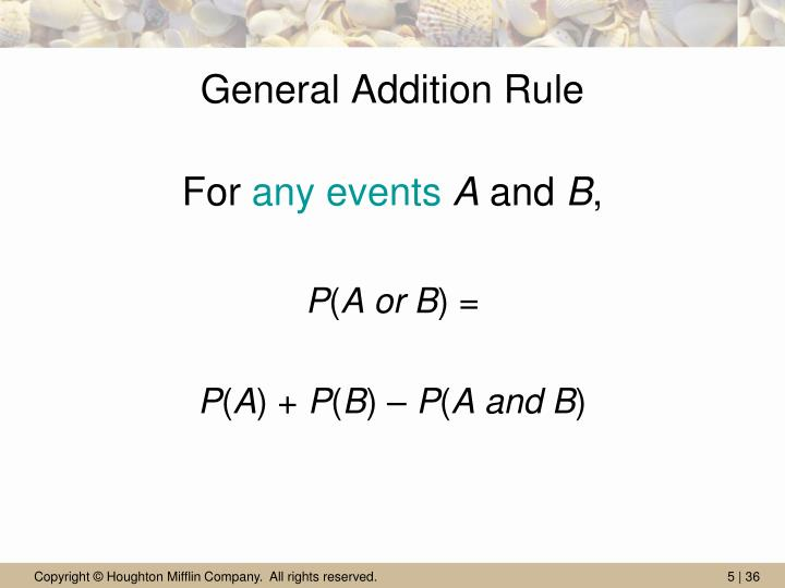General Addition Rule